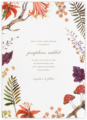 Autumn Harvest - Happy Menocal - Celebration invitations