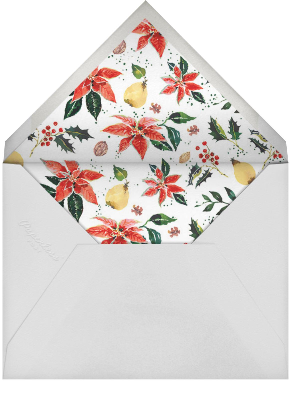 Holiday Harvest - Happy Menocal - Baby shower - envelope back