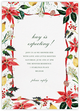 Holiday Harvest - Happy Menocal - Baby Shower Invitations