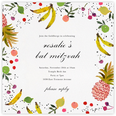 Tutti Frutti - Happy Menocal - Bat and Bar Mitzvah Invitations