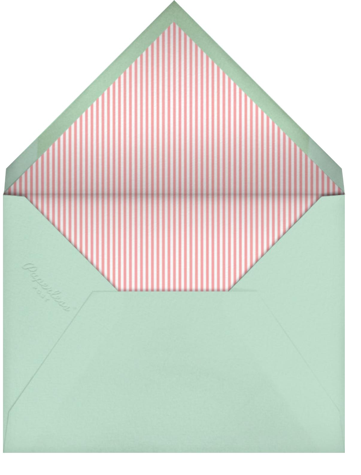 Ellie's Party - Blossom - Little Cube - Baby shower - envelope back