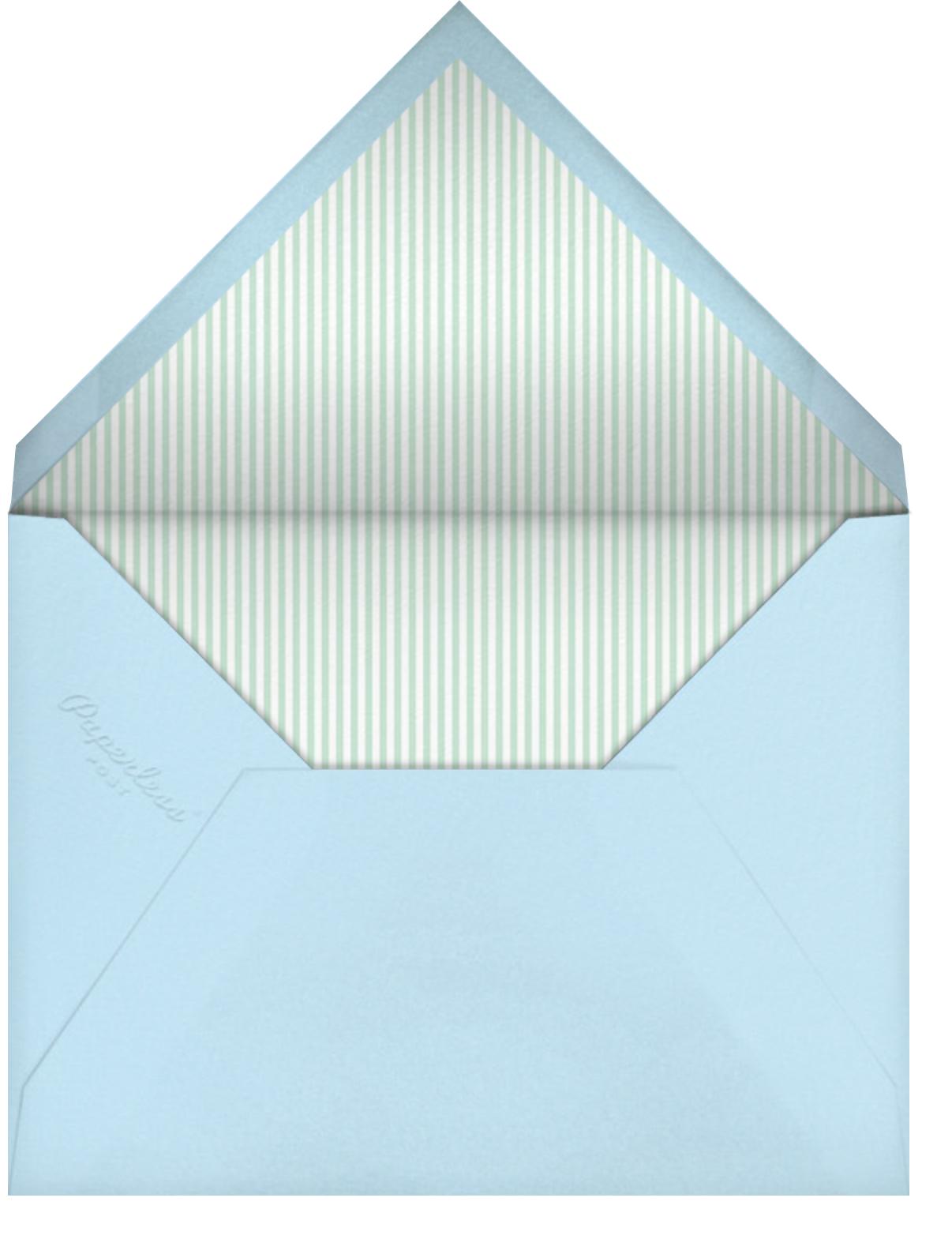 Ellie's Party - Blue - Little Cube - Baby shower - envelope back