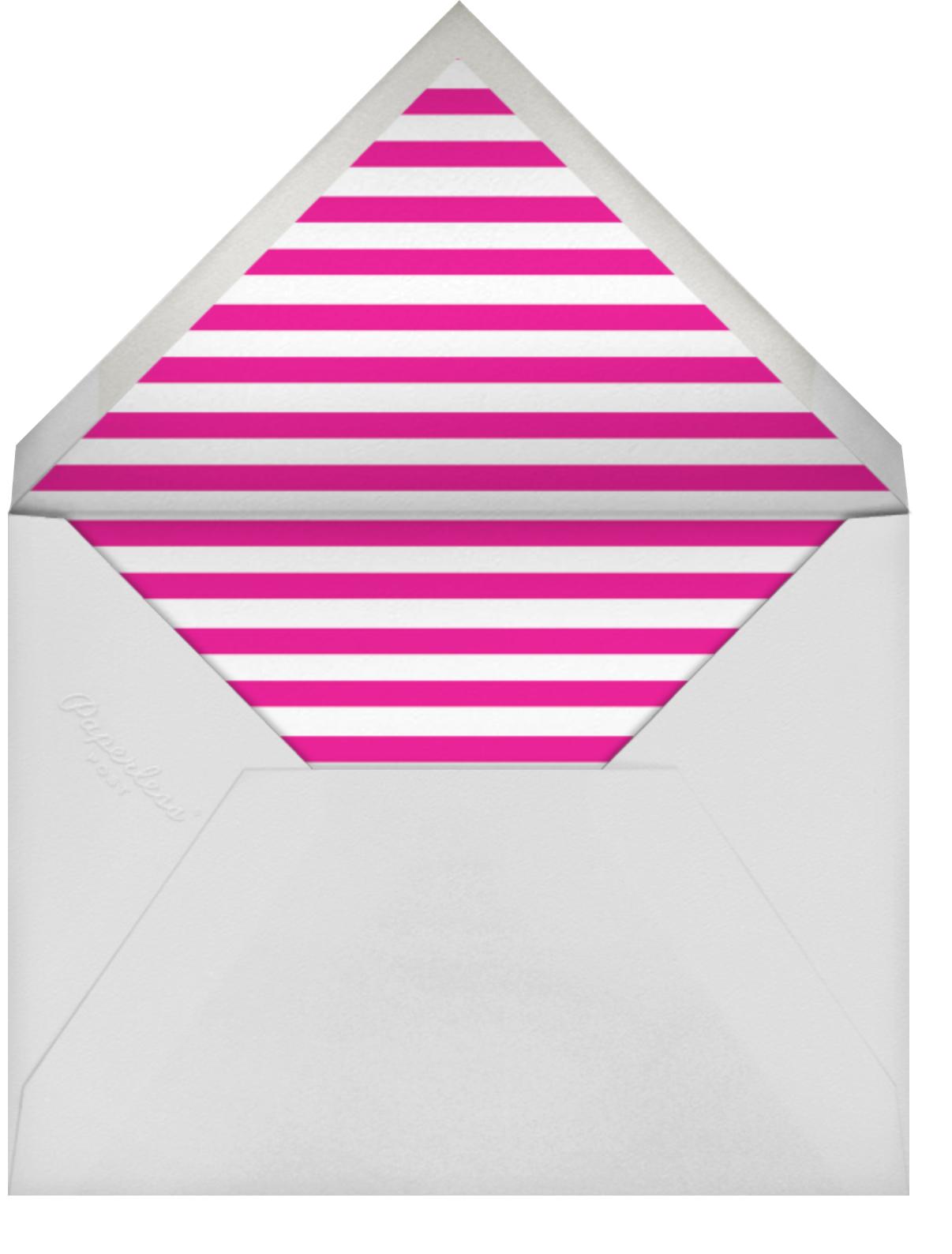 Flamingos - The Indigo Bunting - Bridal shower - envelope back