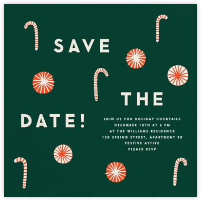 Candy Cane - Save the Date - The Indigo Bunting -