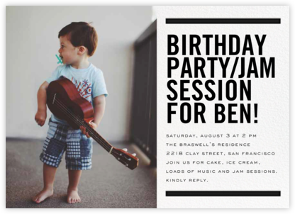 Between the Bars - bluepoolroad - Kids' birthday invitations
