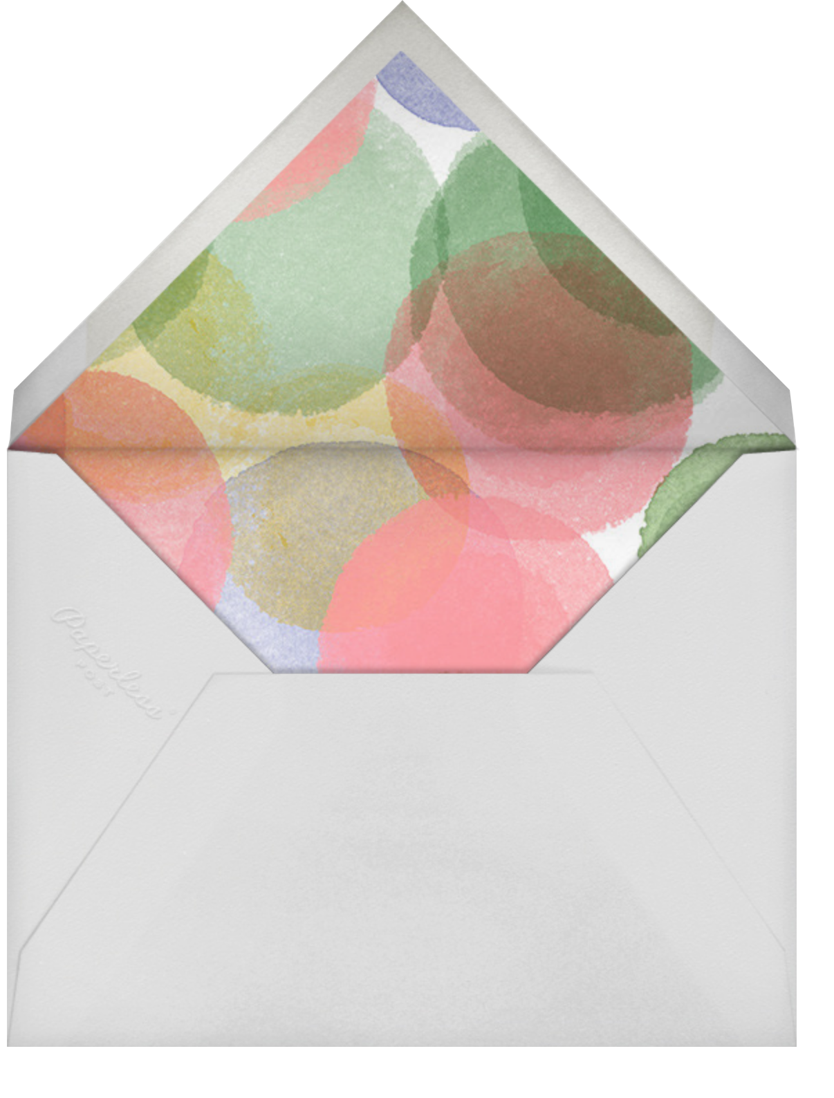 Birthday Watercolor - Crate & Barrel - Kids' birthday - envelope back