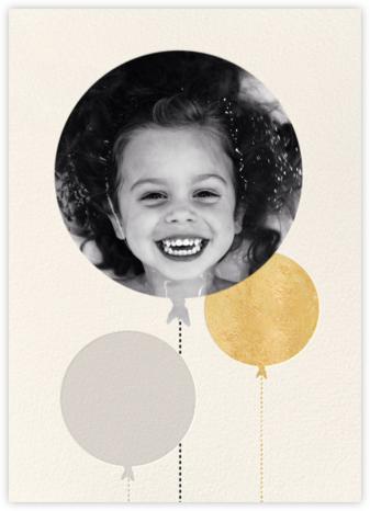 Balloon Birthday (Photo) - Gold - kate spade new york - Online Kids' Birthday Invitations