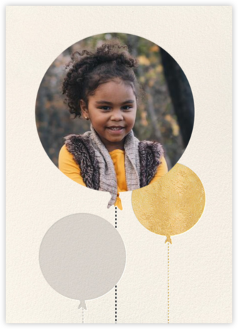Balloon Birthday (Photo) - Gold - kate spade new york - Online Kids' Birthday Invitations