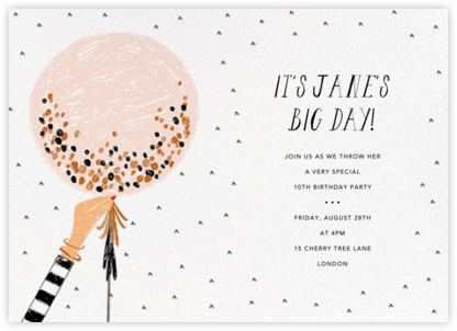 Ready to Burst - Pavlova/Fair - Mr. Boddington's Studio - Birthday invitations
