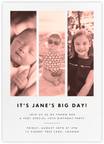 Three Photo Strips - Paperless Post - Online Kids' Birthday Invitations