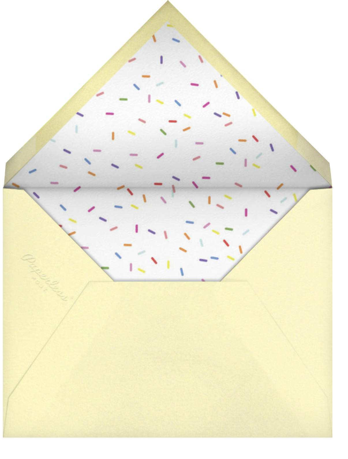Donuts - Technicolor - Paperless Post - Kids' birthday - envelope back