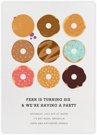 Donuts - Technicolor - Paperless Post - Kids' birthday invitations