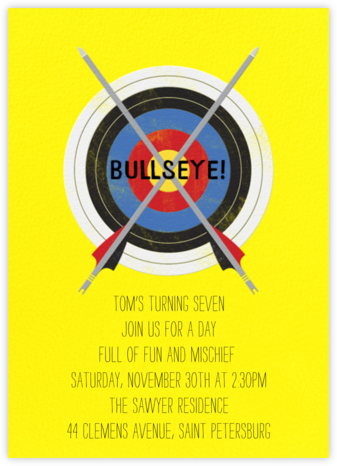 Archery Target - Paperless Post - Online Kids' Birthday Invitations