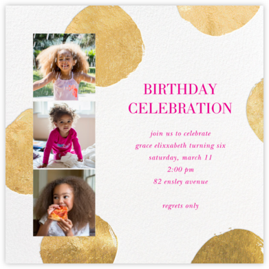 Photo Strip Dots - White - Sugar Paper - Kids' birthday invitations