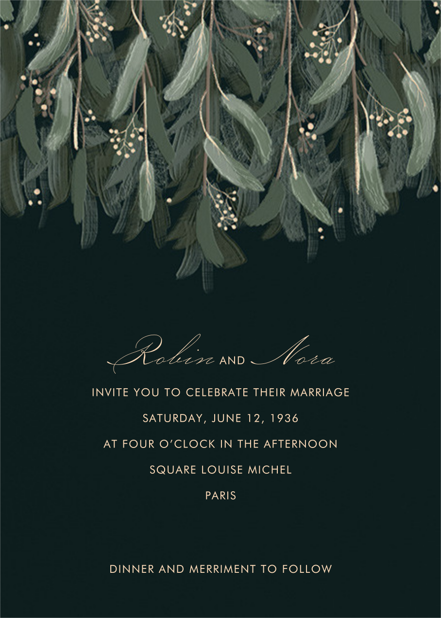 Verdure (Invitation) - Paperless Post - Wedding invitations