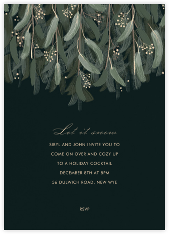 Verdure - Paperless Post - Holiday invitations