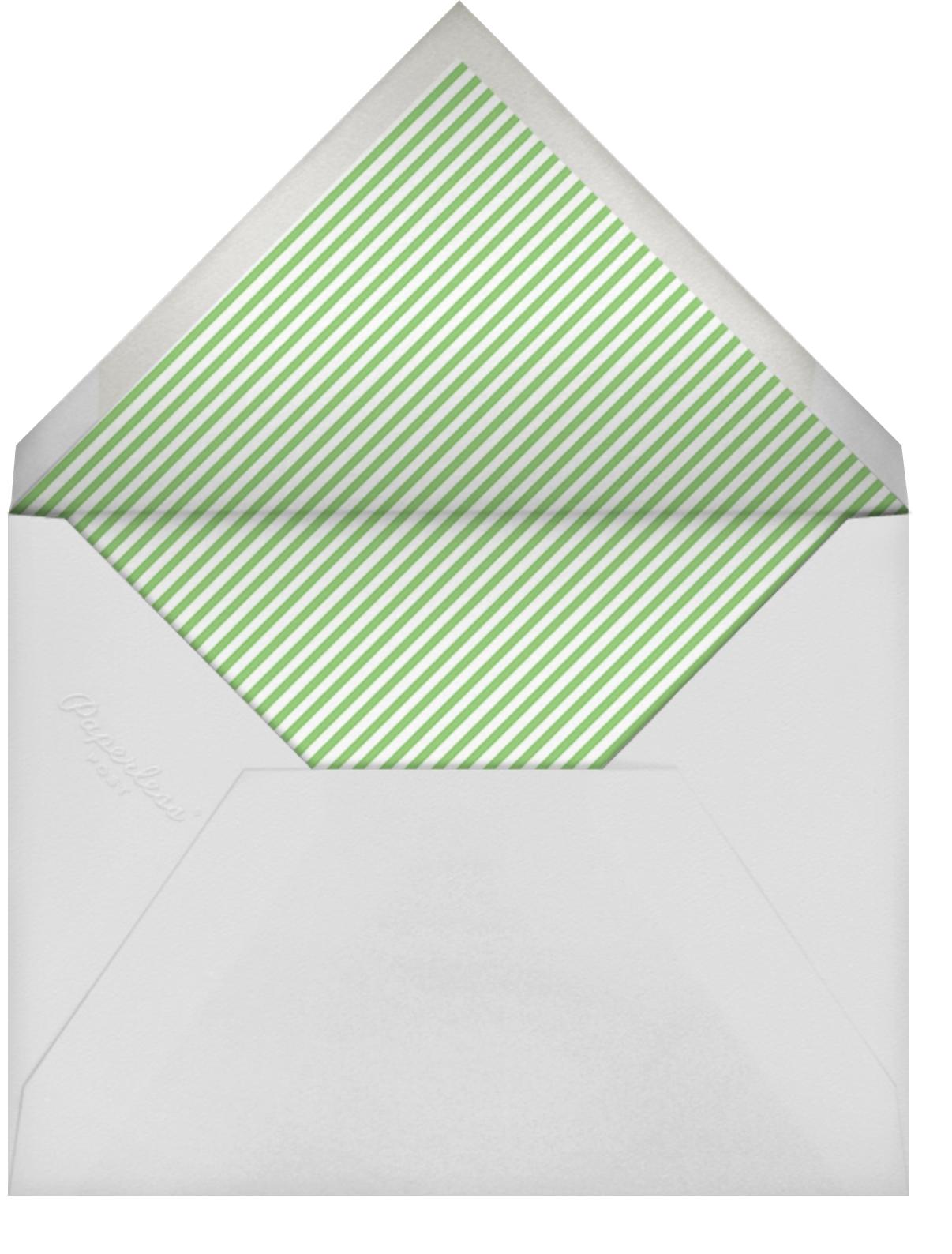 Baby Onesie - Green - Paper Source - Baby shower - envelope back