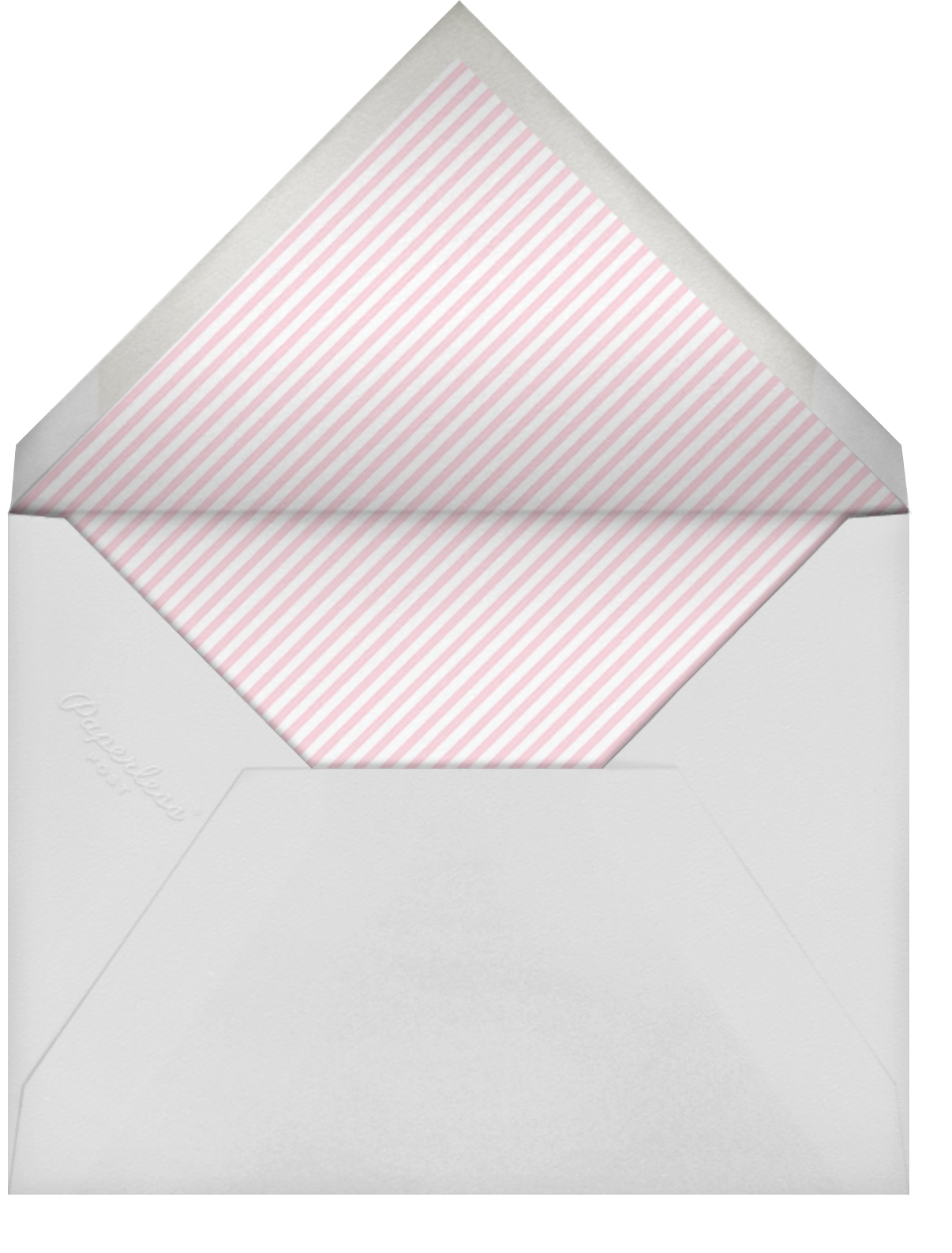 Baby Onesie - Pink - Paper Source - Baby shower - envelope back