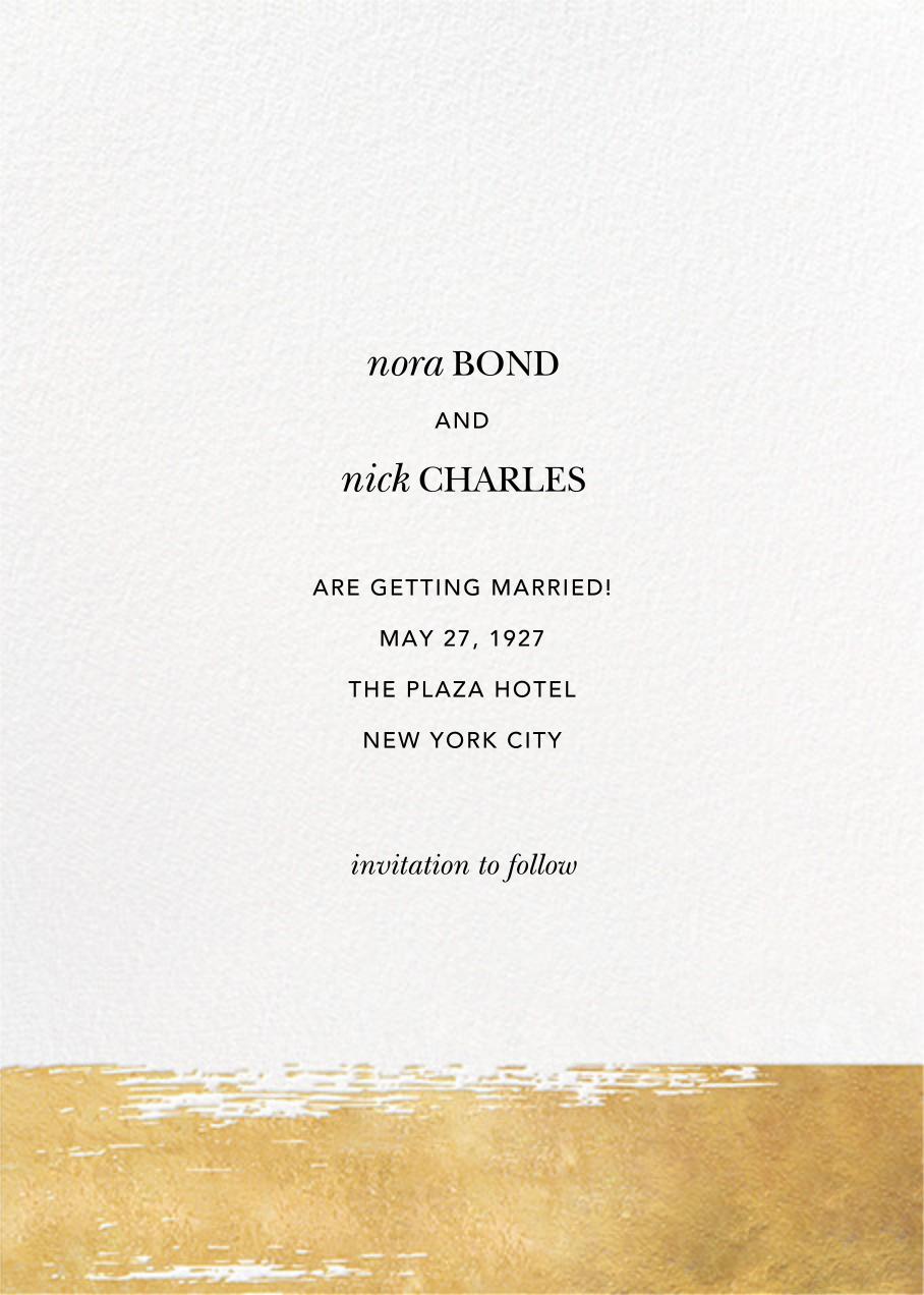 Simple Brushstroke - Sugar Paper - Wedding invitations