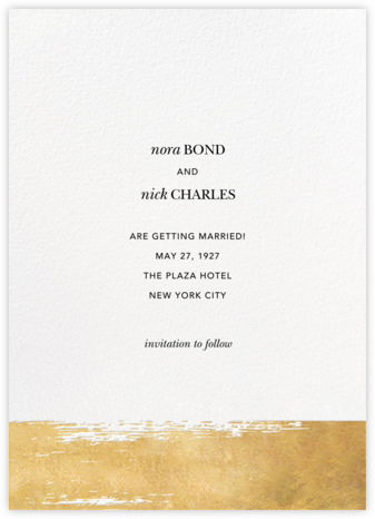 Simple Brushstroke - Sugar Paper - Wedding Invitations