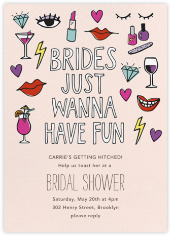 Brides Wanna - Paper Source - Bridal shower invitations