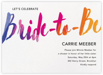Bride to Be - Paper Source - Bridal shower invitations