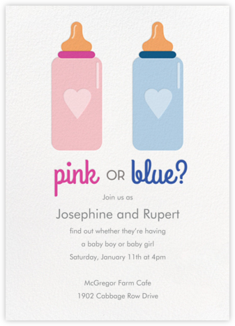 Pink or Blue - Paper Source - Invitations