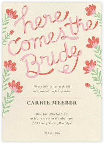 Ribbon Script - Paper Source - Bridal shower invitations
