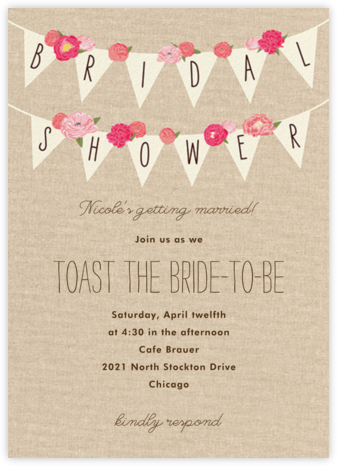 Rustic Banner - Paper Source - Bridal shower invitations