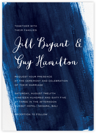 Sapphire (Invitation) - Paper Source - Online Wedding Invitations