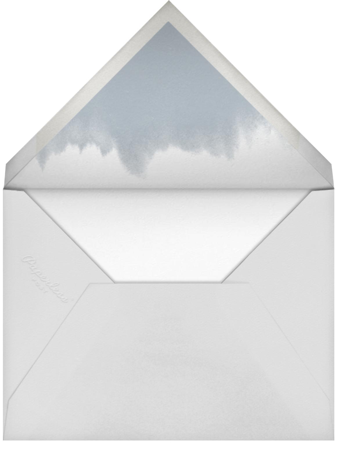 Sapphire - Paper Source - Graduation party - envelope back