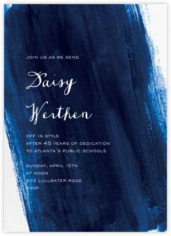 Sapphire - Paper Source - Retirement invitations, farewell invitations