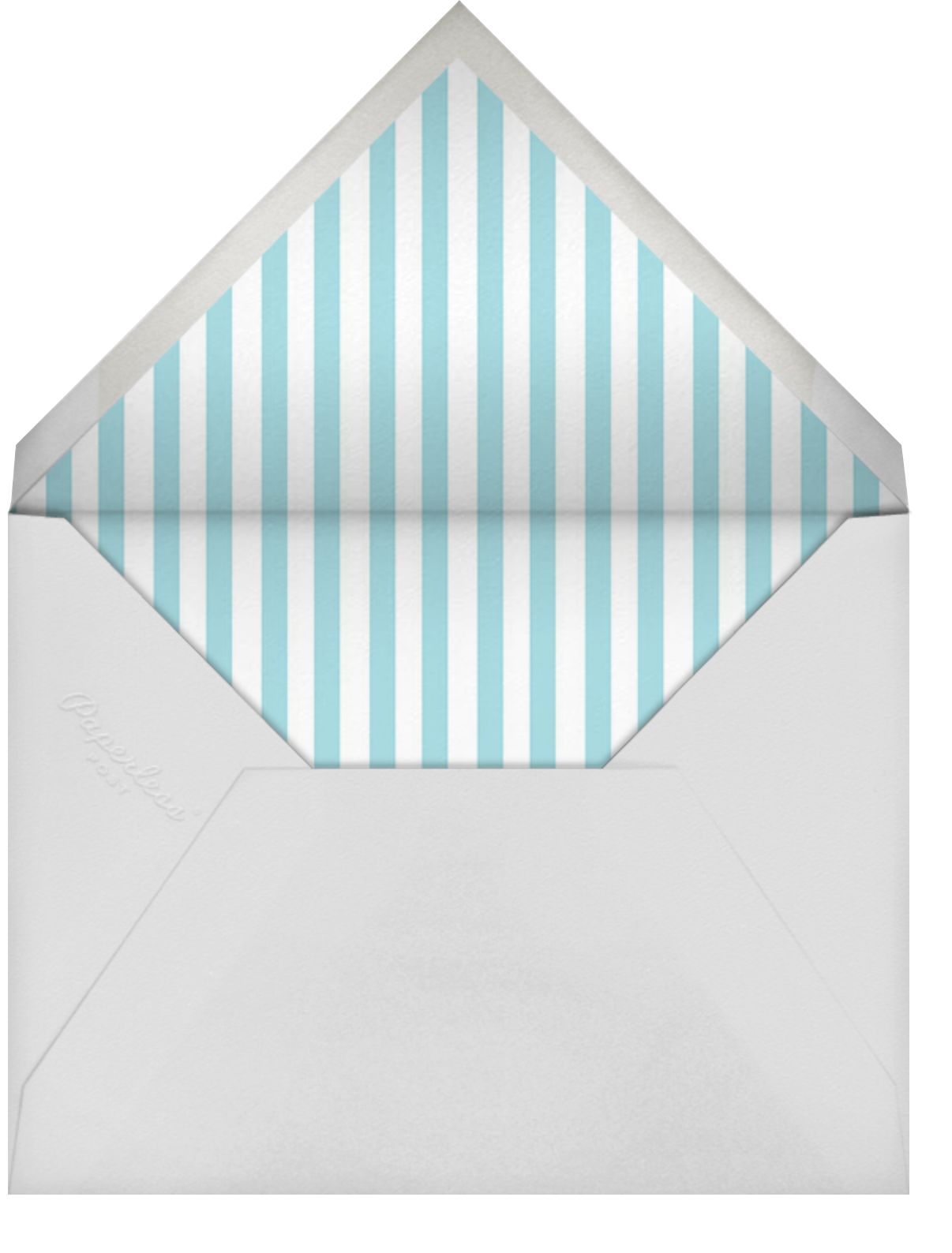 Tea Set - Paper Source - Bridal shower - envelope back