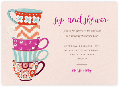 Tea Set - Paper Source - Bridal shower invitations