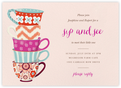 Tea Set - Paper Source - Sip and see invitations