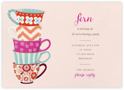 Tea Set - Paper Source - Online Kids' Birthday Invitations