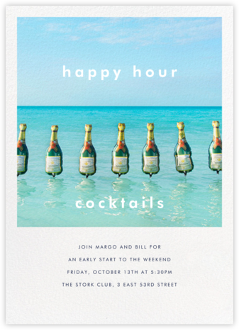 Champagne Float - Gray Malin - Business Party Invitations