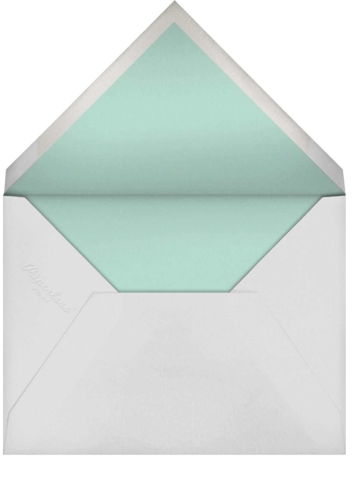 Painted Spots (Photo) - Dark Blue/Blue - Sugar Paper - Baby shower - envelope back