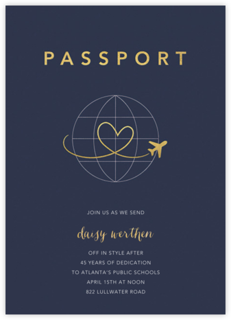 Passport to Romance - Paperless Post - Farewell party invitations