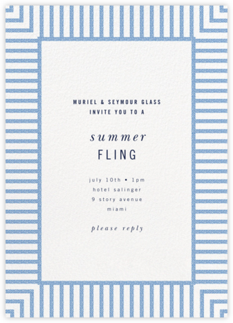 Seersucker Stripe - kate spade new york - Summer entertaining invitations
