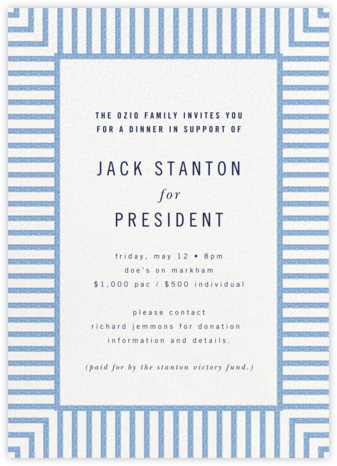 Seersucker Stripe - kate spade new york - Fundraiser Invitations
