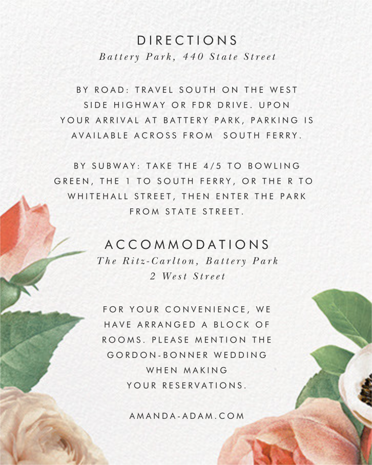 Floral Collage (Invitation) - kate spade new york - All - insert front