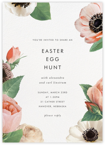 Floral Collage - kate spade new york - Easter invitations