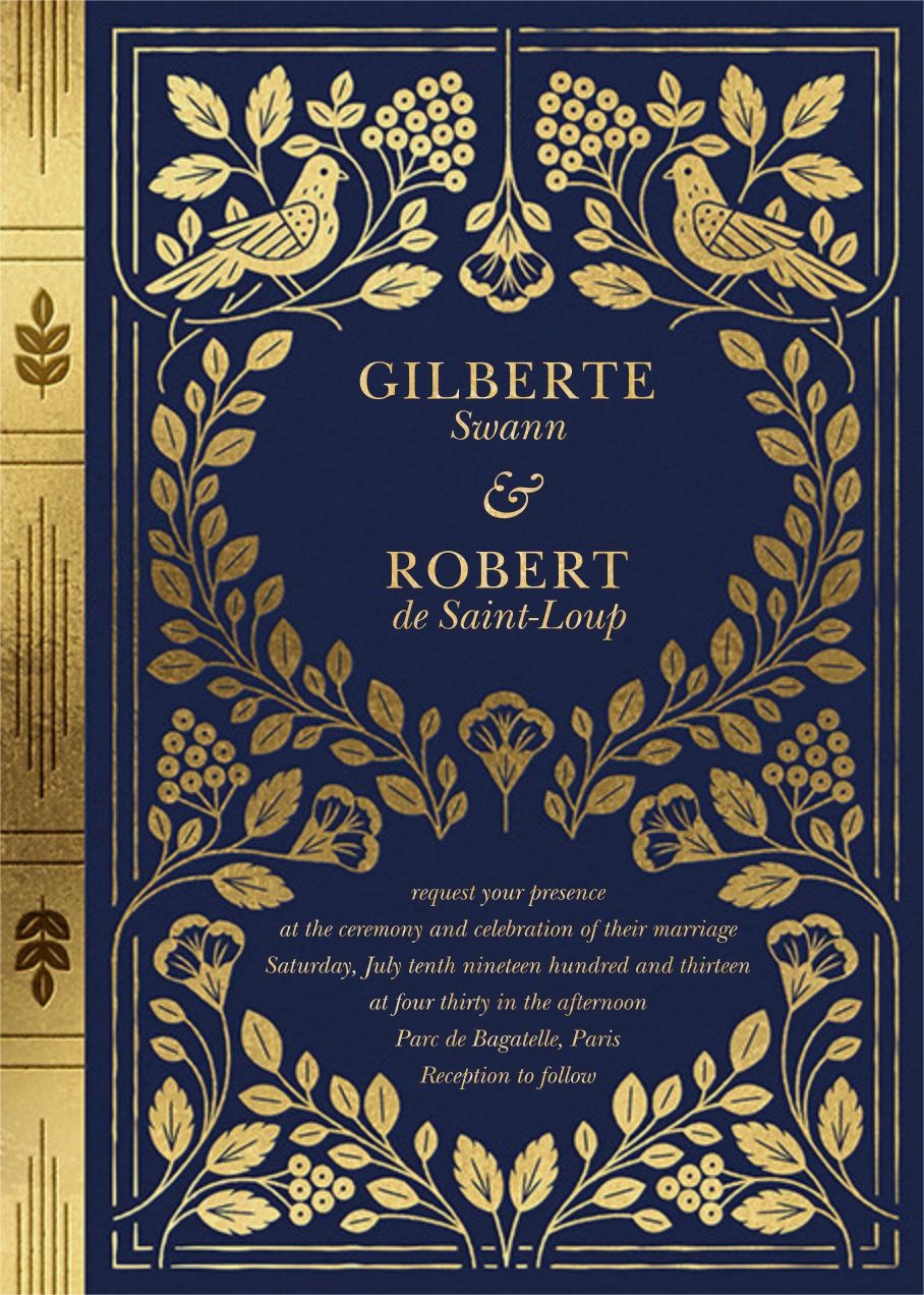 Roman à Clef (Invitation) - Paperless Post - Wedding invitations
