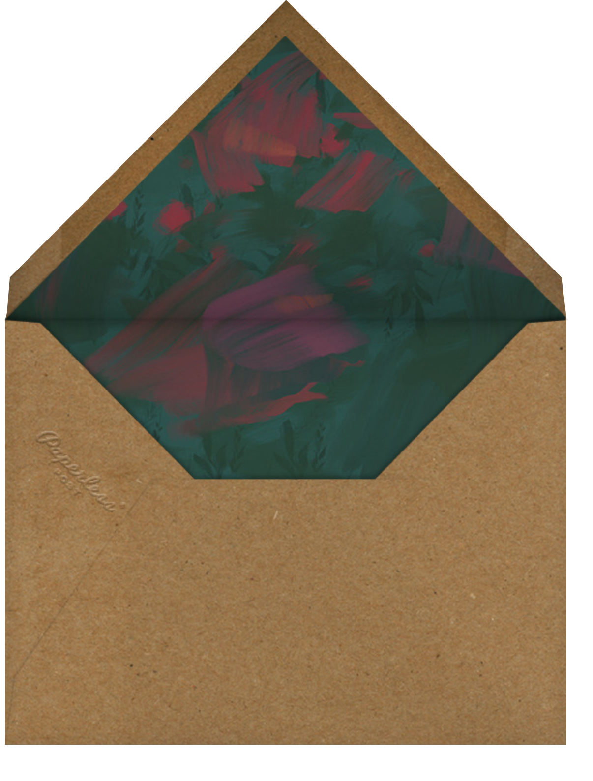 Bollongier - Dark Green - Paperless Post - Reception - envelope back