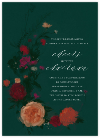 Bollongier - Dark Green - Paperless Post - Reception invitations