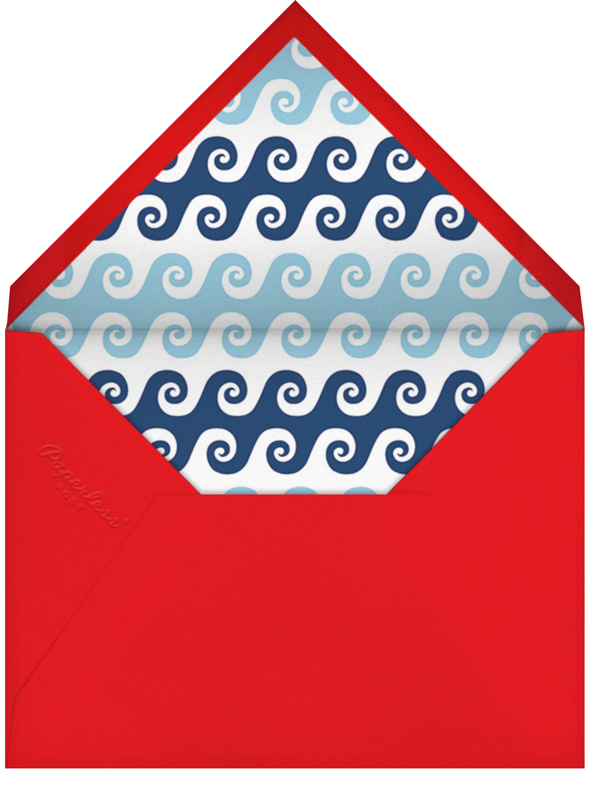 Day at the Marina - Jonathan Adler - Baby shower - envelope back