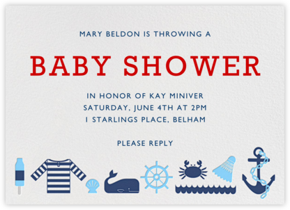 Day at the Marina - Jonathan Adler - Baby shower invitations