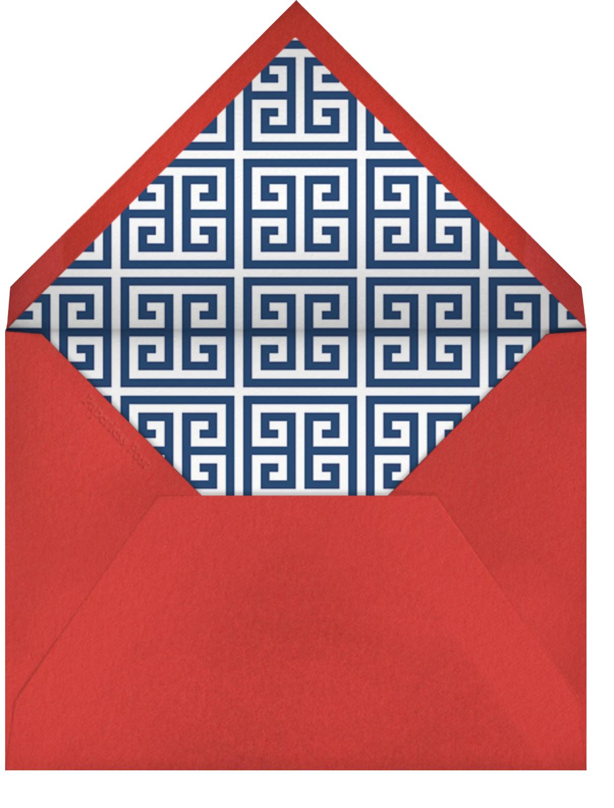 Points of Sail - Jonathan Adler - Baby shower - envelope back