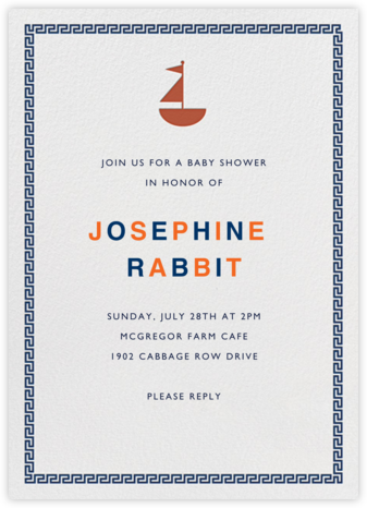 Points of Sail - Jonathan Adler - Baby Shower Invitations